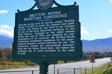 Bretton Woods signpost