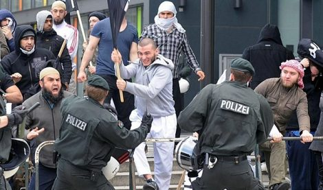 Muslims rioting in Germany