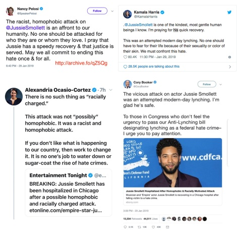 democratic party leaders tweeter smollett