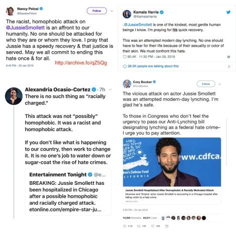 democratic party leaders tweeter smollett