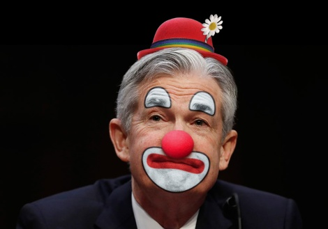 Jerome Powell as clown