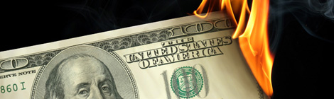 dollar burning s